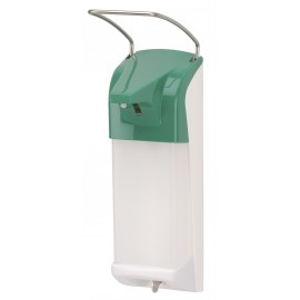 Dispenser sapun lichid / dezinfectant Ingo-Man cu levier, 1000 ml, verde - OpHardt
