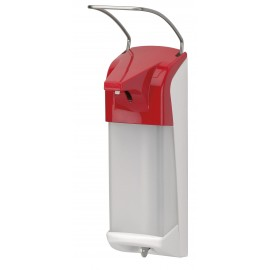 Dispenser sapun lichid / dezinfectant Ingo-Man cu levier, 1000 ml, rosu - OpHardt