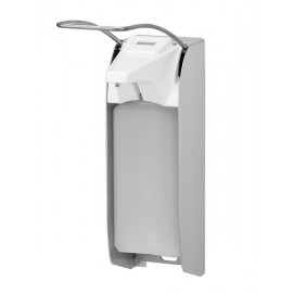 Dispenser sapun lichid / dezinfectant Ingo-Man cu levier lung si afisaj, 1000 ml, inox - OpHardt