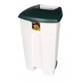 Pubela Eco Step-On Bin, 106 L,alba cu capac verde