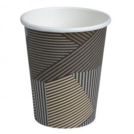 Pahare carton Abena Gastro-Line 11 Oz 330 ml (50 buc/set), maro - Abena