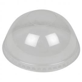 Capace bombate pentru pahare plastic 500 ml, transparent