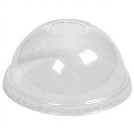 Capace bombate cu orificiu pentru pahare plastic 16 Oz, transparent