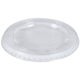 Capace plate pentru pahare plastic 500 ml, transparent