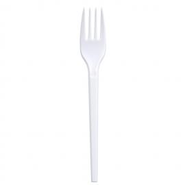 Furculita de unica folosinta 16,5 cm, alb - Abena