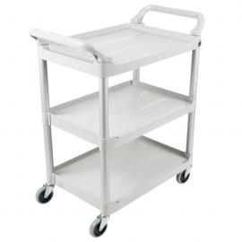 Carucior pentru servire Utility 90.7 kg, alb