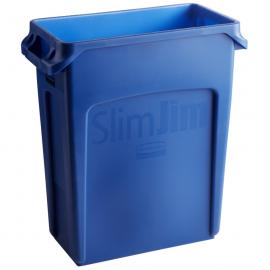 Container Slim Jim cu canale de ventilare 60 L, albastru