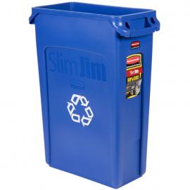Container Slim Jim cu canale de ventilare 87 L reciclare deseuri, albastru
