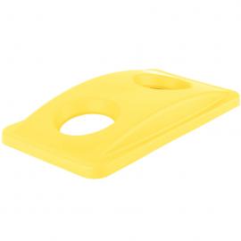 Capac deseuri sticla pentru containere Slim Jim, galben