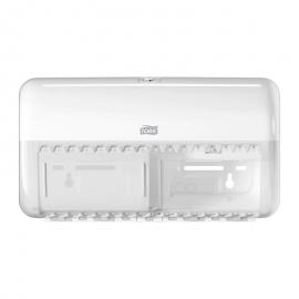 Dispenser hartie igienica standard, alb - Tork Twin Vertical