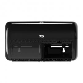 Dispenser hartie igienica standard, negru - Tork Twin Vertical