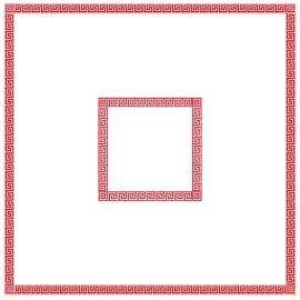 Fata de masa din airlaid 100 x 100 cm, Mykonos - Fato