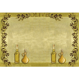 Suport farfurie din hartie 30 x 40 cm, Deluxe Huile d'olive - Fato