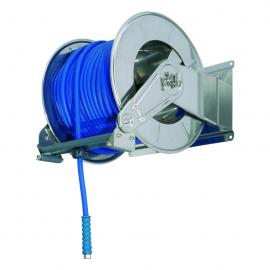 Tambur retractabil din inox pentru furtun 60 m, AV6000 - Ramex