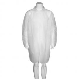 Halat vizitator (tip jacheta cu guler), L/XL, alb - Abena