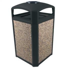Container Landmark Series cu suport/fara panouri 189.2 L, negru - Rubbbermaid