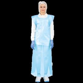Sort lung din polietilena 75x125 cm, 20 microni, albastru (150 buc/rola) - Global Food