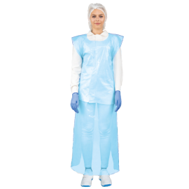 Sort lung din polietilena 75x125 cm, 25 microni, albastru (120 buc/rola) - Global Food
