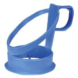 Suport pahar bauturi calde 6.8cm, Ø5.9cm, albastru - Abena