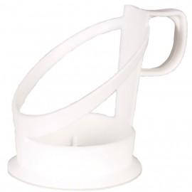 Suport pahar bauturi calde 6.8cm, Ø5.9cm, alb - Abena