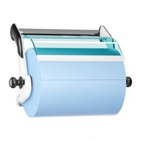 Dispenser perete role-lavete industriale, albastru - Tork